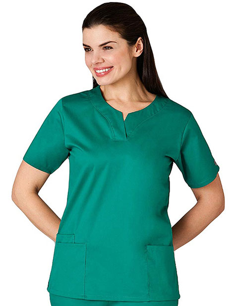White Swan Fusion Women Shaped Banded Scrub Top