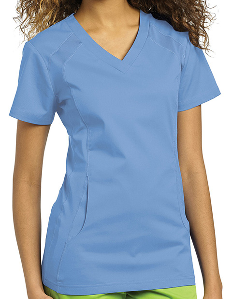 White Cross Allure Women's V-Neck Nursing Scrub Top