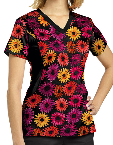 White Cross Women's Arizona V-Neck Printed Scrub Top