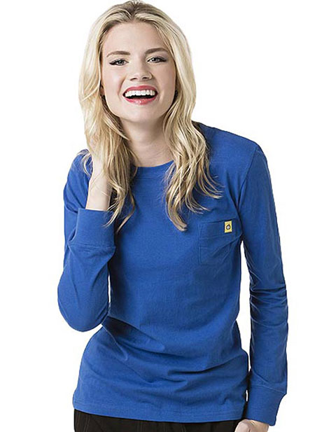 Wink Scrubs Layers Washed Cotton Long Sleeve Nurse Tee