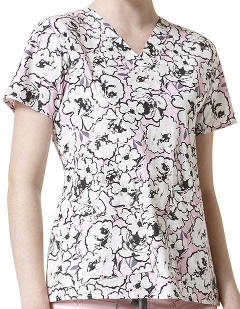 WonderWink WonderFlex Prints Women's Verity Print Top