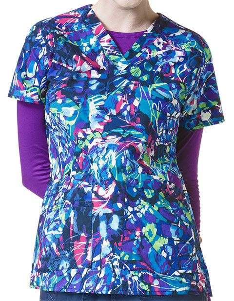WonderWink WonderFlex Women's Verity Print Top