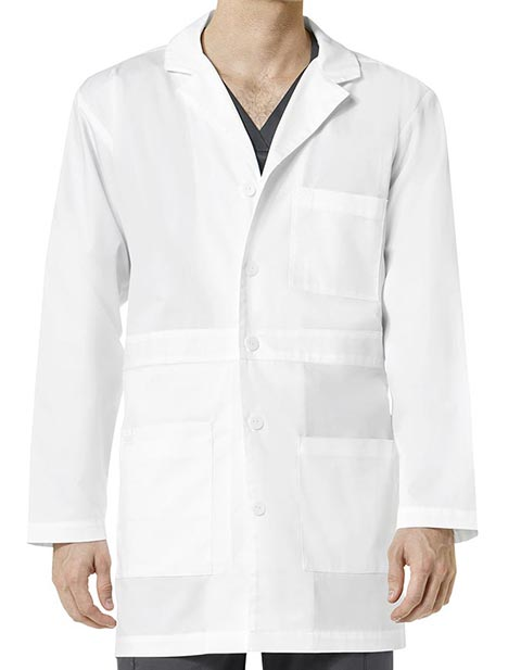 Wonderwink Wonderwork Men's Basic Button Down Front Lab Coat
