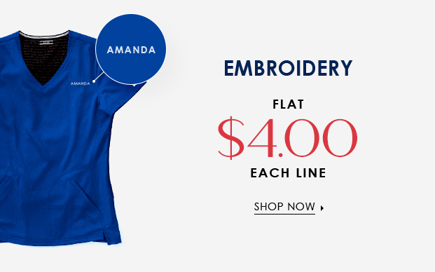 Embroidery medical scrubs
