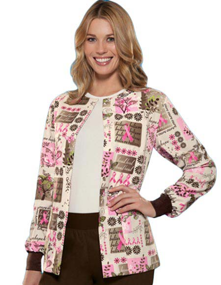f59ae822c05 Or if you want to provide something special, try this printed scrub jacket  from Cherokee.