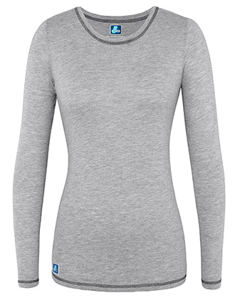 Adar Pop-Stretch Women's Long Sleeve Fitted Tee