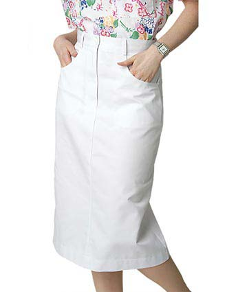 Adar Women White Jeans Nurse Skirt