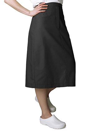 Adar Two Pocket Mid-Calf Length Nurse Skirt