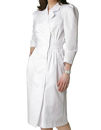 Adar Women Scrub Uniforms Two Pockets White Dress