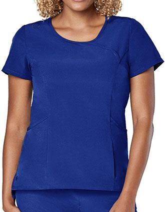 Adar Addition Women's Curved Mock Wrap Top