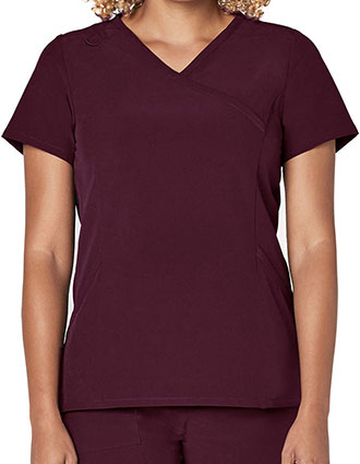Adar Addition Women's Mock Wrap Top