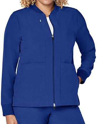 Adar Addition Women's Classic Zip Front Bomber Jacket