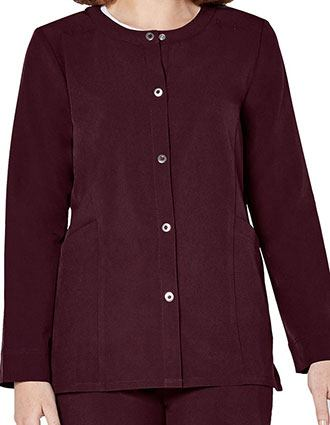 Adar Addition Women's Snap Front Warm Up Jacket