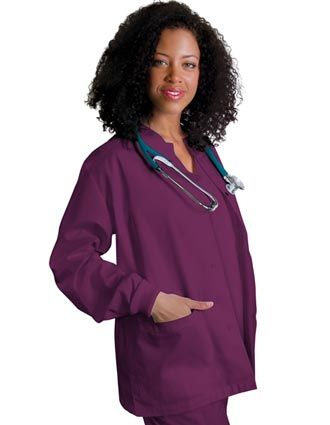 Clearance Sale Women Warm-Up Nursing Scrub Jacket by Adar Uniforms