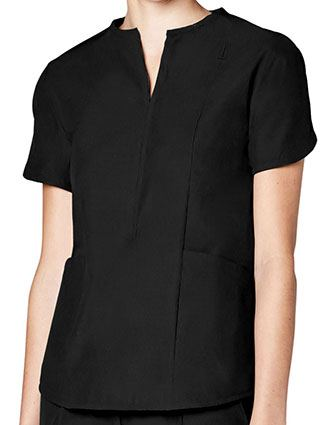 Adar Pro Women's Tailored Notch Neck Top