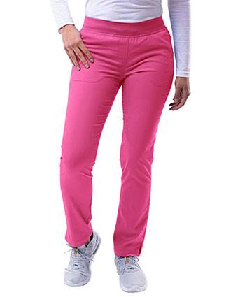 Adar Pro Women's Yoga Knit Waist Tailored Skinny Petite Pant