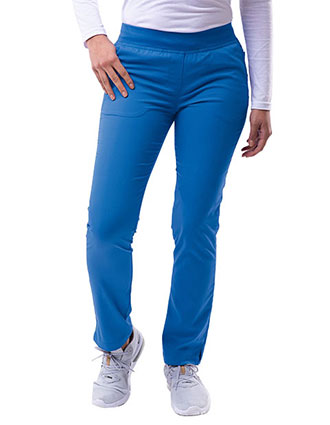 Adar Pro Women's Yoga Knit Waist Tailored Skinny Tall Pant