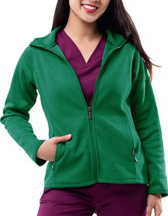 Adar Pro Women's Performance Fleece Solid Scrub Jacket