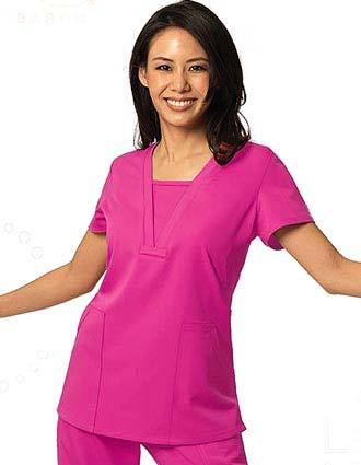 Barco NRG Junior Fit Mock V-Neckline Nurses Scrub Top