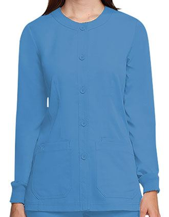 Barco NRG Junior Fit Three Pocket Round Neck Warm-Up Scrub Jacket