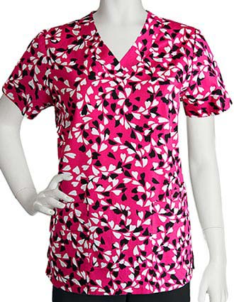 Barco Women's Charming Four Pocket Wide V-Neck Scrub Top