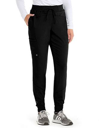Barco One Women's Three Pocket Elasticwaist Cargo Jogger Pant
