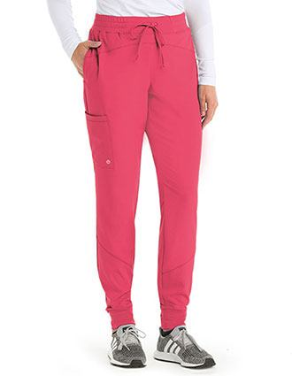 Barco One Women's Three Pocket Elasticwaist Cargo Jogger Petite Pant