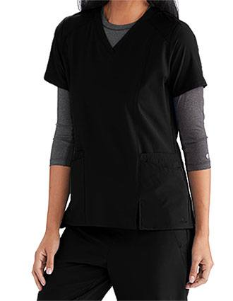 Barco One Wellness Women's Modern Fit V-Neck Top
