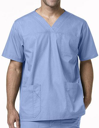 Carhartt Men's Solid V-Neck Three Pocket Scrub Top