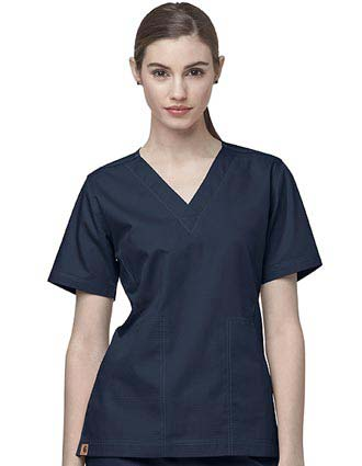 Carhartt Scrubs Women Two-Pocket V-Neck Solid Nursing Top