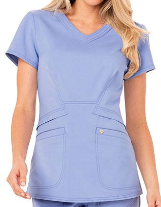 Careisma Charming Women's Antimicrobial V-Neck Scrub Top