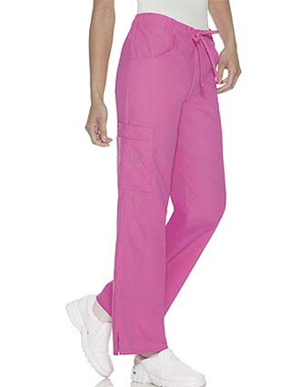 Baby Phat Women Five Pocket Flare Leg Medical Scrub Pants