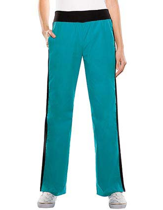 Baby Phat Women Two Pocket Flare Leg Medical Scrub Pants