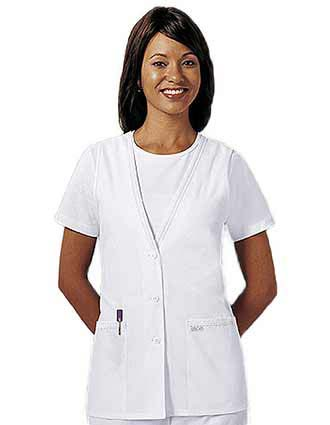 Cherokee Womens Two Pocket Button Front Medical Vest