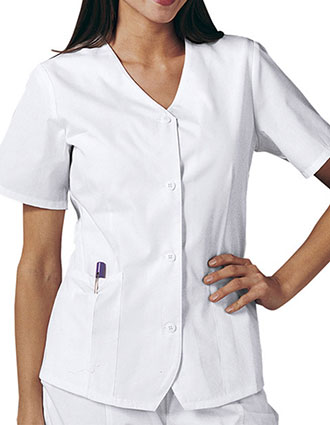 Cherokee Womens Short Sleeve Weskit Nursing Scrub Top