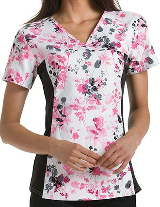 Cherokee Flexibles Women Two Pocket Yorkshire Garden Top