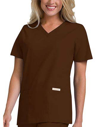 Cherokee Touch Women V-Neck Three Pocket Basic Nurses Scrub Top