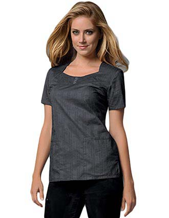 Runway Women Cotton Square Neck Nursing Scrub Top