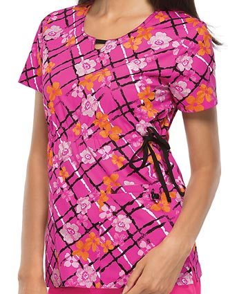Cherokee Women's Flor-all You Do Round Neck Top
