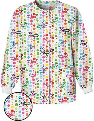 Cherokee HQ Women Butterfly Dots Warm-Up Jacket