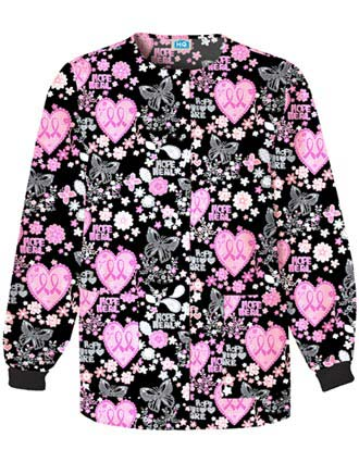 Cherokee HQ Women Let Your Heart Soar Snap Front Jacket