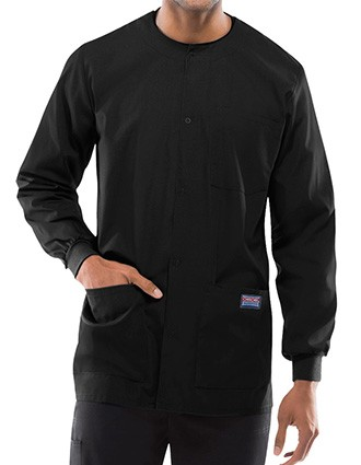 Cherokee Workwear Men's Snap Front Warm-Up Jacket