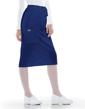 Cherokee Workwear 30 Inches Drawstring Nursing Scrub Skirt