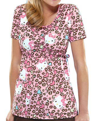 Tooniforms Women Hello Kitty Cheetah Round Neck Top