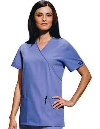 Clearance Sale! Women Workwear Mock Wrap Nurse Scrub Top by Cherokee