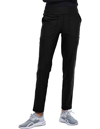 Cherokee Form Women's Mid Rise Slim Straight Pull-on Pant