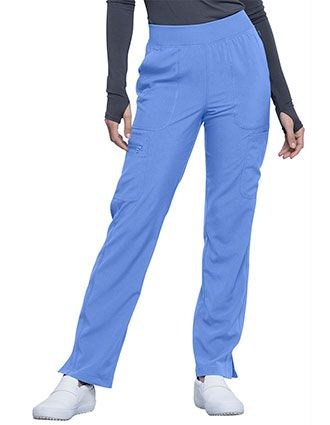 Cherokee Infinity Women's Mid Rise Tapered Leg Pull-on Pant