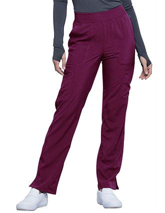Cherokee Infinity Women's Mid Rise Tapered Leg Pull-on Petite Pant