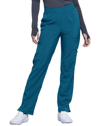 Cherokee Infinity Women's Mid Rise Tapered Leg Pull-on Tall Pant