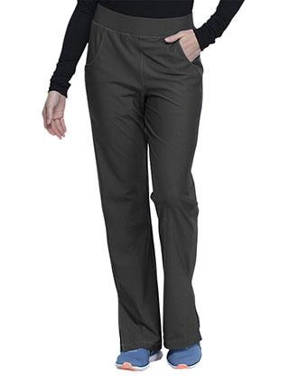 Cherokee Form Women's Mid Rise Moderate Flare Leg Pull-on Petite Pant